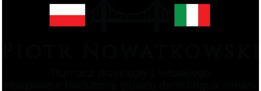 Piotr Nowatkowski - Tłumacz przysięgły j. włoskiego